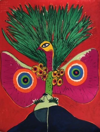 Литография Corneille - L'oiseau papillon