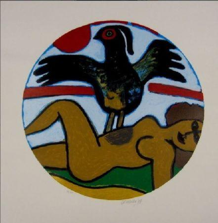 Литография Corneille - L'oiseau Present