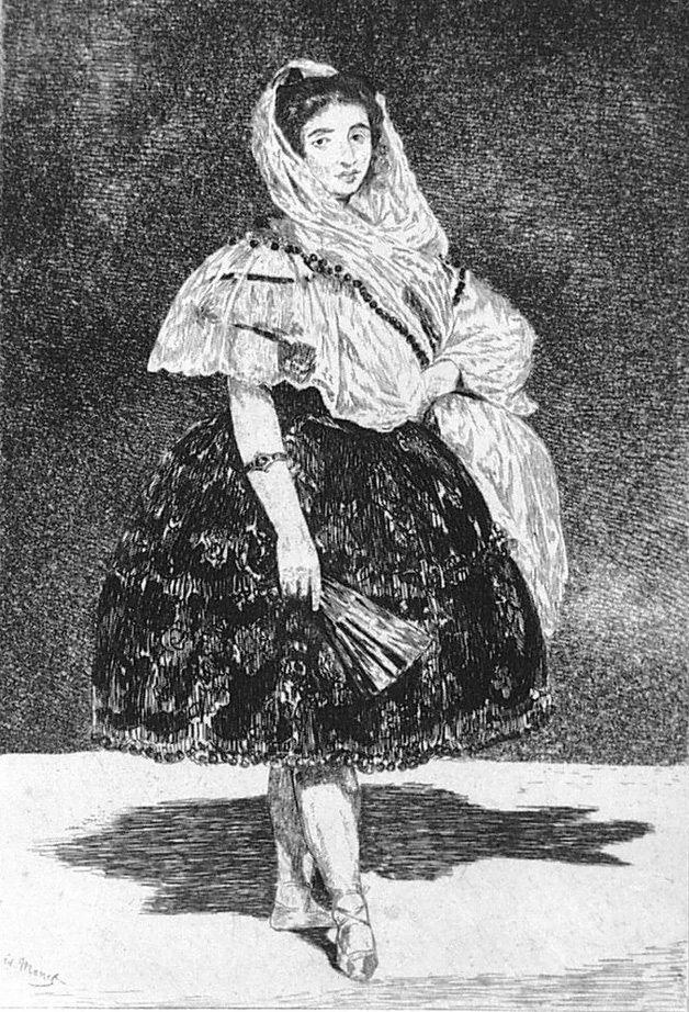 Офорт И Аквитанта Manet - Lola de Valencia