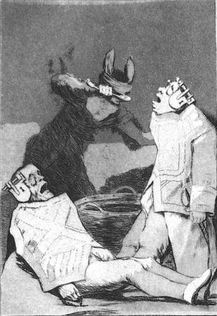 Офорт И Аквитанта Goya - Los chinchillas