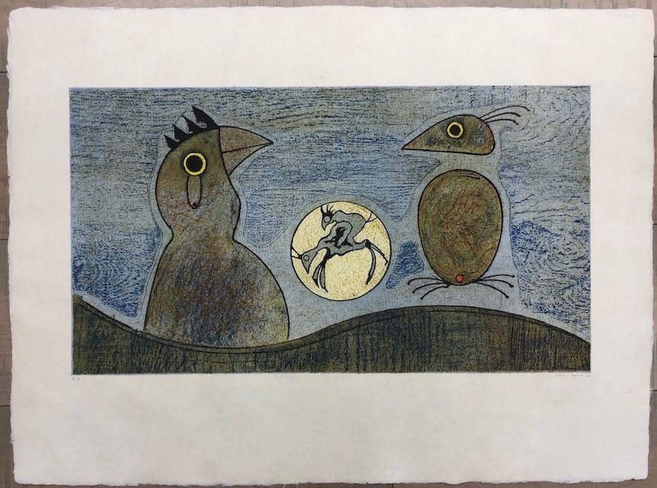 Офорт Ernst - Los Pájaros