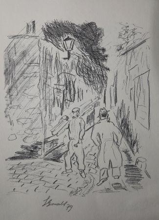 Гравюра Bonabel - Louis-Ferdinand Céline - Gravure Originale - Voyage au Bout de la Nuit