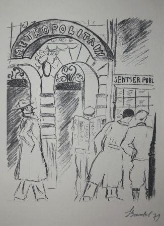 Гравюра Bonabel - Louis-Ferdinand Céline - Gravure Originale