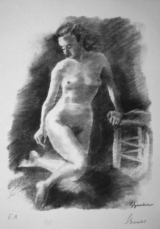 Литография Bonabel - Louis-Ferdinand Céline - Litographie Originale / Original Lithograph - Autoportrait/Self-portrait - 1945