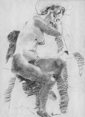 Литография Bonabel - Louis-Ferdinand Céline - Litographie Originale / Original Lithograph - Autoportrait/Self-portrait - 1958