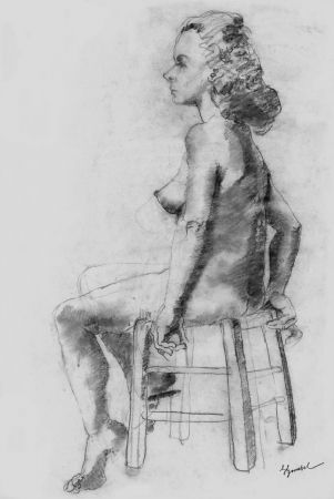 Литография Bonabel - Louis-Ferdinand Céline - Litographie Originale / Original Lithograph - Nu Feminin / Female Nude - 1938