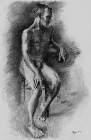 Литография Bonabel - Louis-Ferdinand Céline - Litographie Originale / Original Lithograph - Nu Masculin / Male Nude - 1938