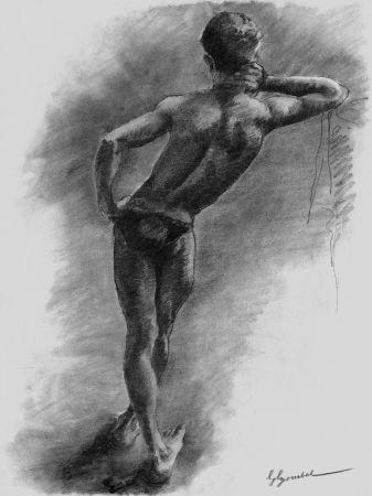 Литография Bonabel - Louis-Ferdinand Céline - Litographie Originale / Original Lithograph - Nu Masculin / Male Nude 1938