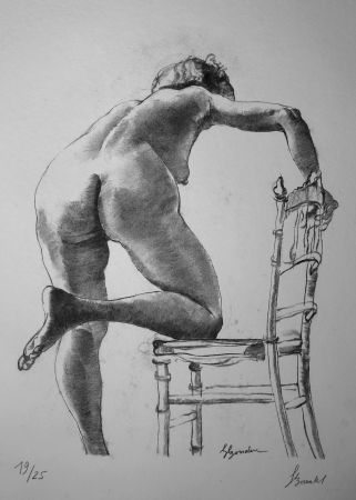 Литография Bonabel - Louis-Ferdinand Céline - Nu Feminin / Female Nude - 1938