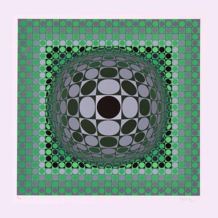 Сериграфия Vasarely - Louisiana II