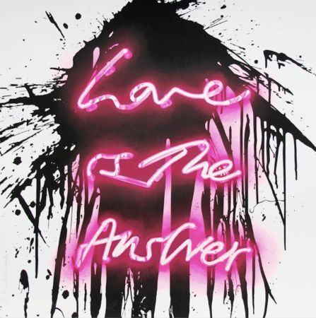 Сериграфия Mr Brainwash - Love is the answer