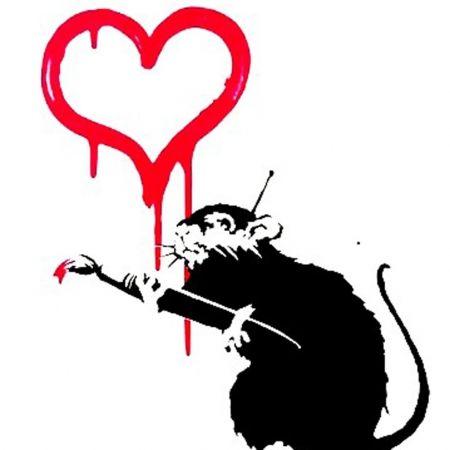 Сериграфия Banksy - Love Rat