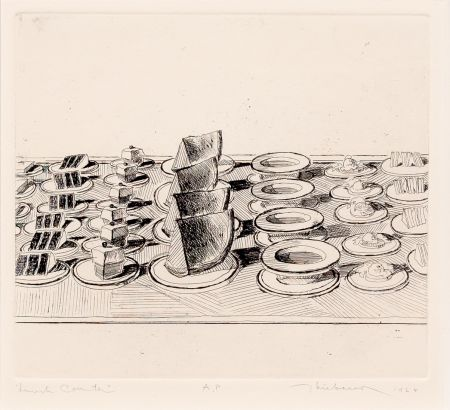 Гравюра Thiebaud - Lunch Counter, from Delights