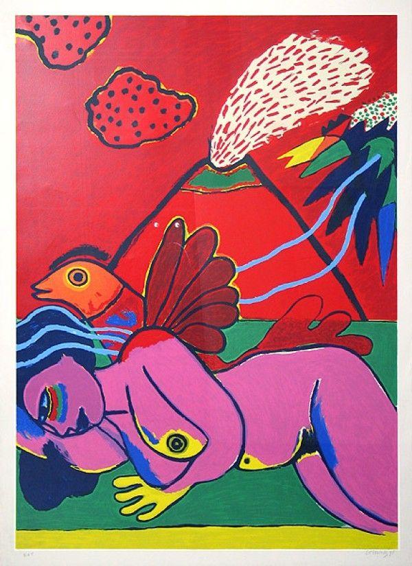 Литография Corneille - Lying Nude (Liegender Akt)