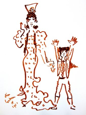 Литография Cocteau - Mère et Fils