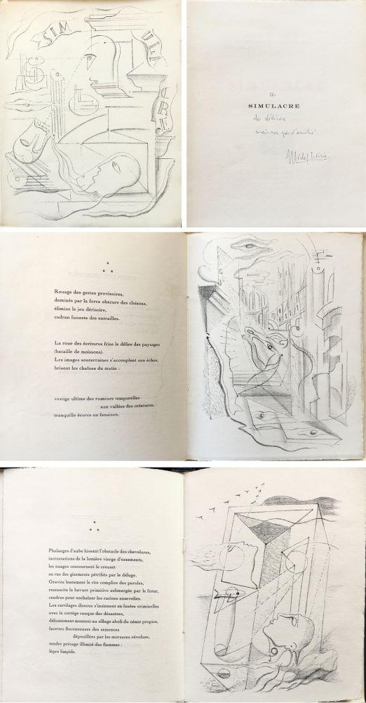 Иллюстрированная Книга Masson - M. Leiris & A. Masson : SIMULACRE. 7 lithographies originale. Dédicacé (1925)