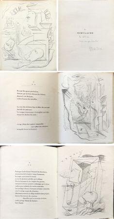 Иллюстрированная Книга Masson - M. Leiris & A. Masson : SIMULACRE. 7 lithographies originales. Dédicacé (1925)
