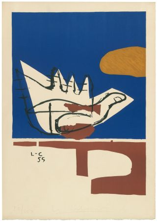 Литография Le Corbusier - Main ouverte (hand-signed & numbered)