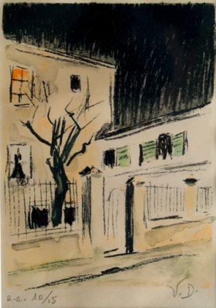 Литография Van Dongen - Maison a Paris