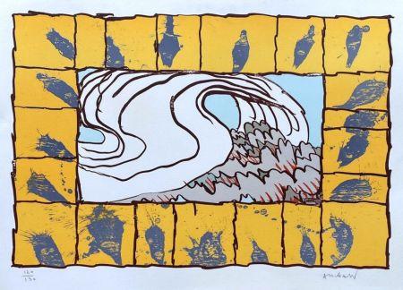 Литография Alechinsky - '' Maitresse Vague ''