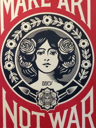 Литография Fairey - Make Art Not War