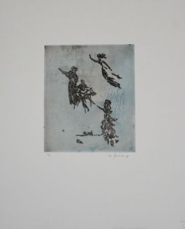 Гравюра Zimmermann - Maler, Muse und Inspiration / Painter, Muse, and Inspiration