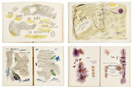 Иллюстрированная Книга Masson - Mallarmé : UN COUP DE DÉS JAMAIS N'ABOLIRA LE HASARD. 28 lithographies originales en couleurs (1961)