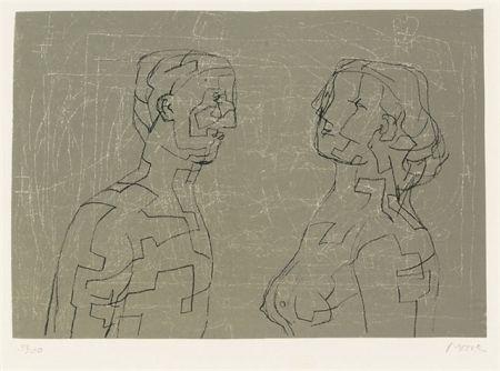 Литография Moore - Man and woman