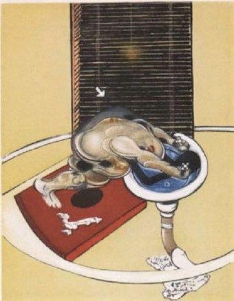 Офорт И Аквитанта Bacon - Man At The Washbasin