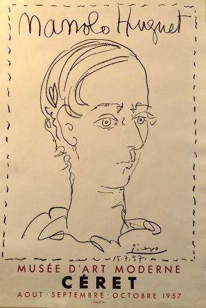 Литография Picasso - Manolo Huguet - Musée D'Art Moderne, Céret Août - Octobre 1957