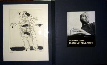 Иллюстрированная Книга Millares - Manolo Millares - Colección Nueva orbita - Incluye un aguafuerte - Firmado y numerado