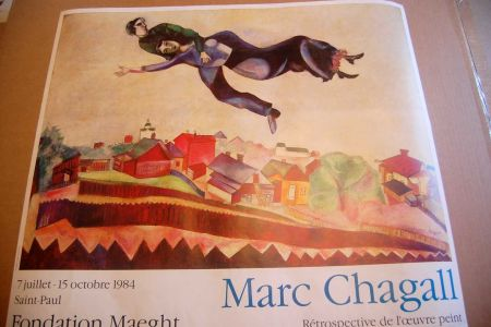 Афиша Chagall - Marc Chagall - Cartel Exposicion Retrospectiva Fundacion Maeght 1984