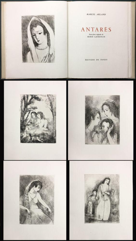 Иллюстрированная Книга Laurencin - Marcel Arland : ANTARES. Exemplaire avec suite (1944).
