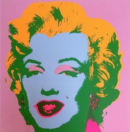 Сериграфия Warhol - Marilyn ( By Sunday B. Morning )