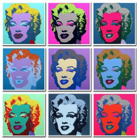 Нет Никаких Технических Warhol (After) - Marilyn Collection a Set of 10 in different colours