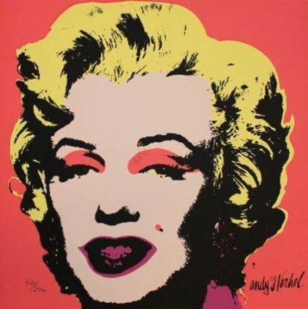 Сериграфия Warhol (After) - Marilyn Monroe Creme
