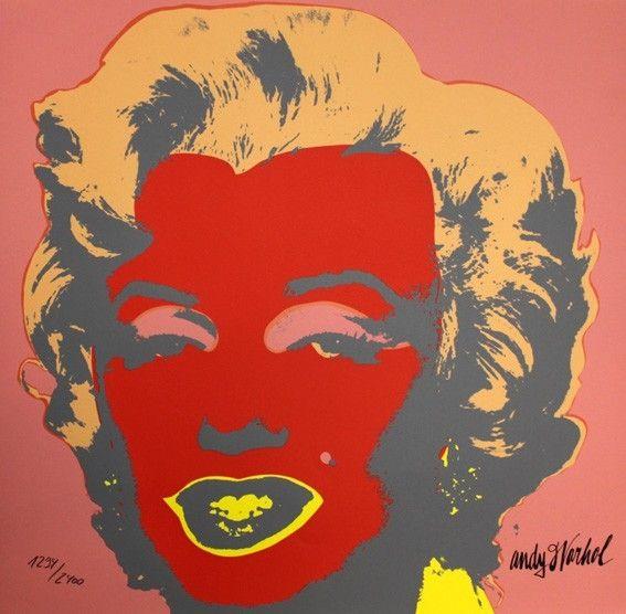 Сериграфия Warhol - Marilyn Monroe Red