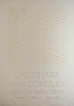 Сериграфия Calderara - Marlborough (SIGNED silkscreen exhibition poster on fine paper)