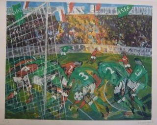 Литография Bertholle - Match de football