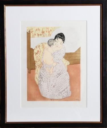 Гравюра Cassatt - Maternal Caress
