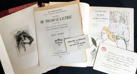 Иллюстрированная Книга Toulouse-Lautrec - Maurice Joyant. HENRI DE TOULOUSE-LAUTREC, 1864-1901. [Vol. 1] Peintre - [Vol. 2] Dessins-Estampes-Affiches. (Exemplaire sur Japon avec suites et pièces ajoutées)
