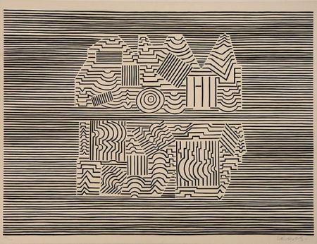 Сериграфия Vasarely - Meandre