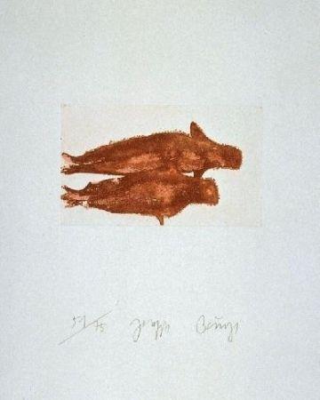 Офорт И Аквитанта Beuys - Meerengel Zwei Robben