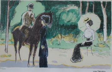 Литография Van Dongen - Meeting in the woods