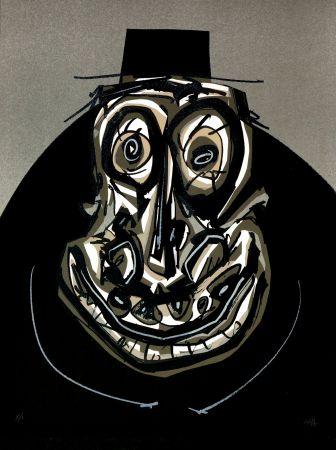 Литография Saura - Melanchton I, Une chaire d'ombre