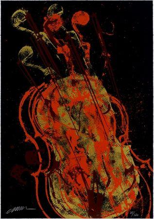 Сериграфия Arman - Melody for Strings 1