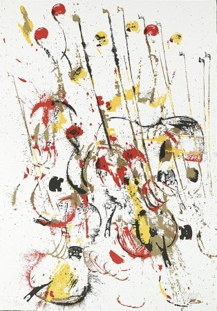 Сериграфия Arman - Melody for Strings III