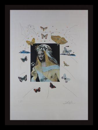 Гравюра Dali - Memories of Surrealism Surrealiste Portrait of Dali Surrounded by Butterflies