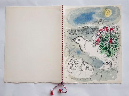 Литография Chagall - Menu du Diner du 5 Janvier 1978