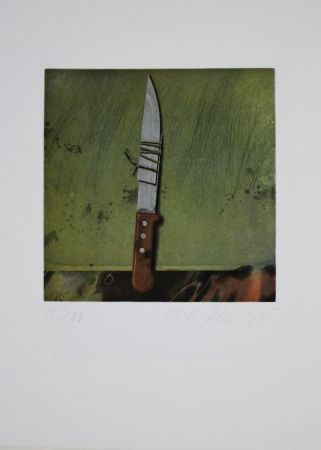 Офорт И Аквитанта Rösel - Messer / Knife